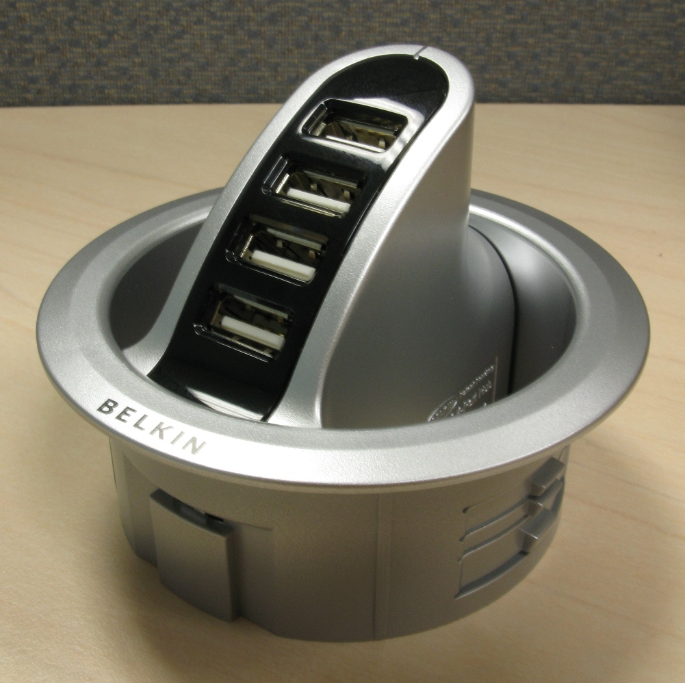 Belkin In Desk Usb Hub Review Notebookreview Com